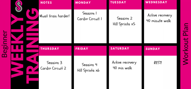Beginner 4 Week Fitness Training Plan