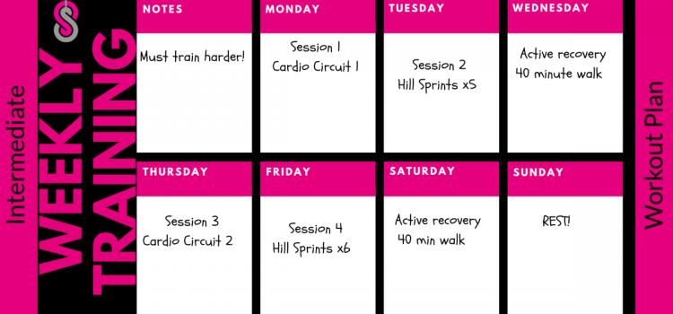Intermediate 4 Week Fitness Training Plan